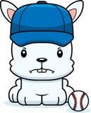 Cartoon Angry Baseball Player Bunny Royalty Free Stock Images