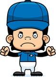 Cartoon Angry Baseball Player Chimpanzee Stock Photography