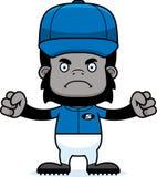 Cartoon Angry Baseball Player Gorilla Stock Image
