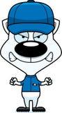 Cartoon Angry Baseball Player Kitten Royalty Free Stock Images