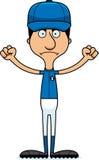 Cartoon Angry Baseball Player Man Stock Images