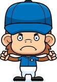 Cartoon Angry Baseball Player Monkey Royalty Free Stock Images