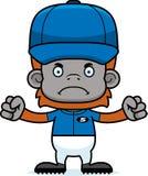 Cartoon Angry Baseball Player Orangutan Royalty Free Stock Images