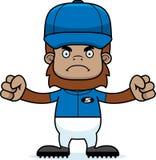 Cartoon Angry Baseball Player Sasquatch Stock Photography