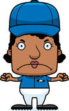 Cartoon Angry Baseball Player Woman Royalty Free Stock Images