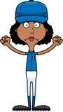 Cartoon Angry Baseball Player Woman Stock Photos