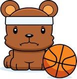 Cartoon Angry Basketball Player Bear Stock Images