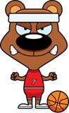 Cartoon Angry Basketball Player Bear Royalty Free Stock Images