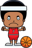 Cartoon Angry Basketball Player Boy Royalty Free Stock Photography