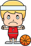 Cartoon Angry Basketball Player Boy Royalty Free Stock Photo
