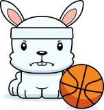 Cartoon Angry Basketball Player Bunny Stock Images
