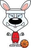 Cartoon Angry Basketball Player Bunny Royalty Free Stock Images