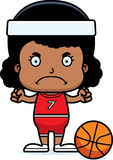 Cartoon Angry Basketball Player Girl Royalty Free Stock Photo