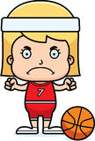 Cartoon Angry Basketball Player Girl Royalty Free Stock Images