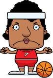 Cartoon Angry Basketball Player Woman Stock Images
