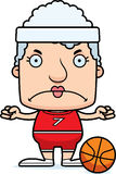 Cartoon Angry Basketball Player Woman Royalty Free Stock Photos