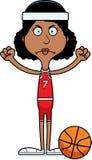 Cartoon Angry Basketball Player Woman Stock Photos