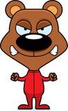 Cartoon Angry Bear In Pajamas Stock Photos