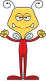 Cartoon Angry Bee In Pajamas Royalty Free Stock Photography