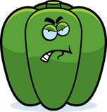 Cartoon Angry Bell Pepper Royalty Free Stock Photo