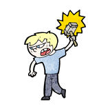 Cartoon angry blond boy Royalty Free Stock Photography