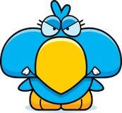 Cartoon Angry Blue Bird Royalty Free Stock Photography