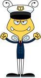 Cartoon Angry Boat Captain Bee Stock Photo