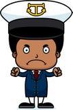 Cartoon Angry Boat Captain Boy Stock Photography
