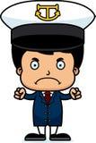 Cartoon Angry Boat Captain Boy Stock Photos