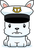 Cartoon Angry Boat Captain Bunny Royalty Free Stock Photos
