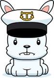 Cartoon Angry Boat Captain Bunny Royalty Free Stock Photos