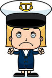 Cartoon Angry Boat Captain Girl Royalty Free Stock Photos