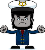 Cartoon Angry Boat Captain Gorilla Royalty Free Stock Photo