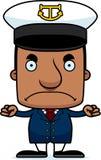 Cartoon Angry Boat Captain Man Stock Image
