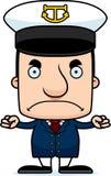 Cartoon Angry Boat Captain Man Royalty Free Stock Photos