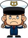 Cartoon Angry Boat Captain Monkey Royalty Free Stock Photo
