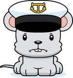Cartoon Angry Boat Captain Mouse Royalty Free Stock Photo