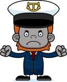 Cartoon Angry Boat Captain Orangutan Stock Photo