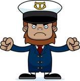 Cartoon Angry Boat Captain Sasquatch Stock Photos