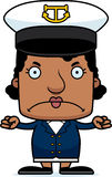 Cartoon Angry Boat Captain Woman Stock Images