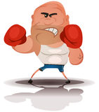 Cartoon Angry Boxer Champion Stock Image