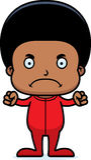 Cartoon Angry Boy In Pajamas Royalty Free Stock Image