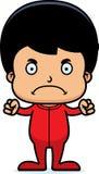 Cartoon Angry Boy In Pajamas Stock Image