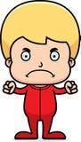 Cartoon Angry Boy In Pajamas Stock Photography