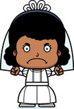 Cartoon Angry Bride Girl. A cartoon bride girl looking angry Stock Images
