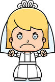 Cartoon Angry Bride Girl Stock Photography
