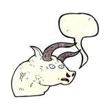 Cartoon angry bull head with speech bubble Royalty Free Stock Photo