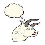 Cartoon angry bull head with thought bubble Stock Photography