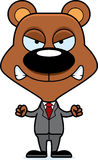 Cartoon Angry Businessperson Bear Royalty Free Stock Photography