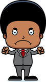 Cartoon Angry Businessperson Boy Royalty Free Stock Photography